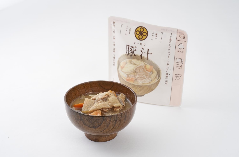 送料無料激安祭 まい泉オリジナルブランド豚 甘い誘惑 の豚バラ肉を厚めにスライスして使用しているため 日本メーカー新品 まい泉の豚汁 豚肉のやわらかな食感とコクのある旨みが楽しめます