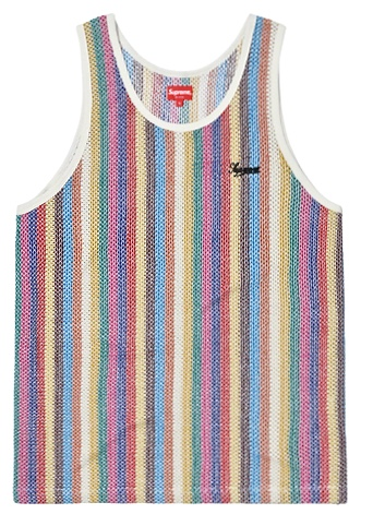 【From NYC 】2019SS 19SS Supreme Knit Stripe Tank Top Multi Color  BOX シュプリーム ニット ストライプ タンク トップ ボックス