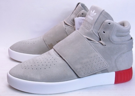 reputable site 6e578 892f9 adidas TUBULAR INVADER STRAP SESAME/VIVID RED KANYE WEST yeezy adidas  tubular space invaders straps Sesame vivid red Kanye West easy