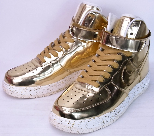 online store d894c 78f59 1 1 NIKE LUNAR FORCE HI SP LIQUID METAL GOLD METALLIC GOLD METALLIC GOLD-  ...