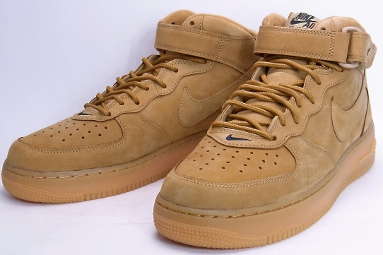 online retailer f2a41 e1675 TONNEAU: NIKE AIR FORCE 1 MID '07 PRM QS wheat Nike Air Force 1 mid ...