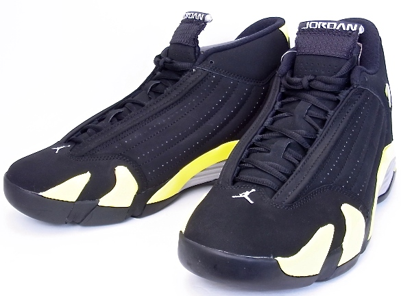 sale retailer 4d404 0be95 14 NIKE AIR JORDAN RETRO THUNDER nike Air Jordan 14 nostalgic sander