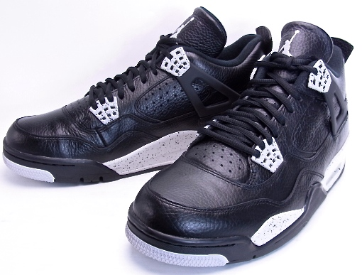 ac034d98eea11 NIKE AIR JORDAN 4 RETRO LS Oreo Black Grey Nike Air Jordan 4 Oreo black  314254-003