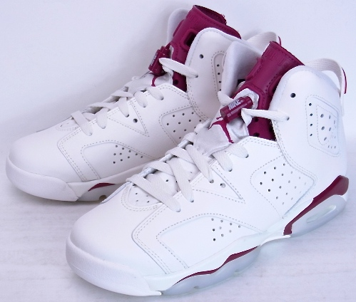 AIR JORDAN 6 RETRO BG MAROON Nike Air Jordan 6 retro boys girls Maroon  384665-116