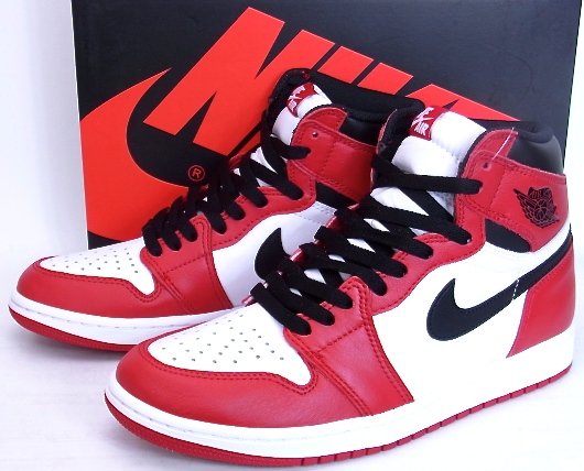 NIKE AIR JORDAN 1 RETRO HIGH OG CHICAGO 2015 Nike Air Jordan 1 nostalgic  Haishi basket 555,088-101
