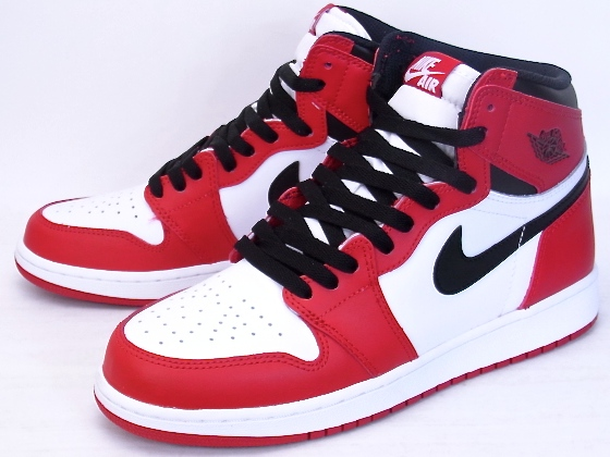 NIKE AIR JORDAN 1 RETRO HIGH OG BG CHICAGO 2015 Nike Air Jordan 1 retro Hi  Chicago 575441-101 a607d67e6