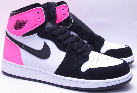 bee65689d59ec1 2017 NIKE AIR JORDAN 1 RETRO HIGH OG GG Valentine s Day black white pink  Nike Air Jordan 1 nostalgic high Aussie Valentine pink 881