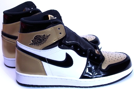 2018 NIKE AIR JORDAN 1 RETRO HIGH OG NRG GOLD TOE Nike Air Jordan 1  nostalgic high gold patent 861 36a5f93402016