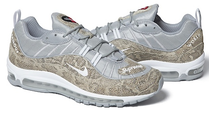 online store be97a 9a37d NIKE AIR MAX 98 SUPREME Supreme air max 98 Snakeskin Nike Air Max 98  Supreme snake skins 844694-100