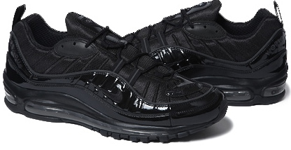 new product 4182f 5cbe9 NIKE AIR MAX 98 SUPREME Supreme air max 98 Black Nike Air Max 98 Supreme  Black patent 844694-001