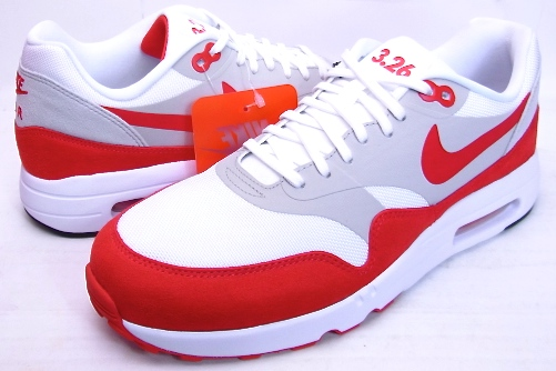 pick up really comfortable famous brand 2017 NIKE AIR MAX 1 Ultra 2.0 LE 3.26 air max day WHITE/UNIVERSITY  RED-NEUTRAL Kie Ney AMAX 1 ultra bar city red Air Max D 3.26 908,091-100