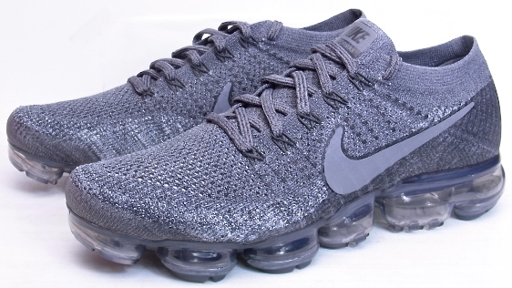 916cc59a3d75 2017 NIKE AIR VAPORMAX FLYKNIT Grey on Grey air max day Nike air vapor max  fried food knit gray on gray dark gray Air Max D 3.26 899