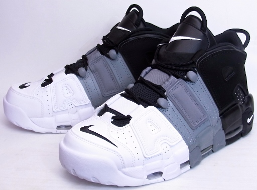 2017 NIKE AIR MORE UPTEMPO '96 TRI COLOR Nike air up tempo black gray white tricot by color 921,948 002