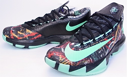 f12f563b8d5f 6 NIKE KD VI AS MULTI-COLOR GREEN GLOW-BLACK ALL STAR GAME nike KD 6 all-star  Kevin Durant glow lamps 647