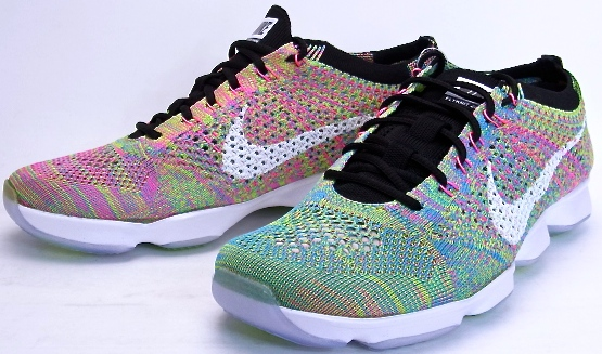 shoes for cheap 100% high quality online here WMNS NIKE FLYKNIT ZOOM AGILITY Multi women Nike fried food knit zoom  agility multi-698,616-002