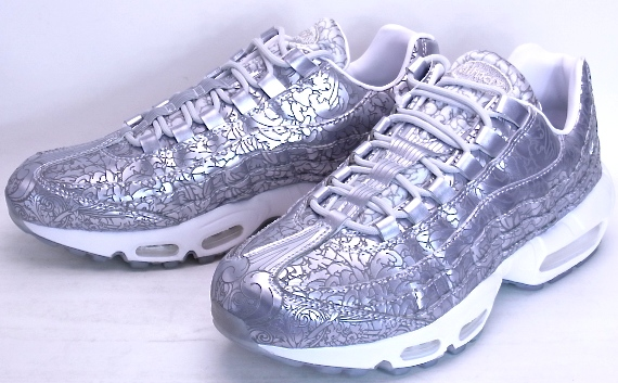 NIKE AIR MAX 95 anniversary QS Pure Platinum Metallic Silver Nike Air Max 95 anniversary quick strike Platinum 20th anniversary commemorative