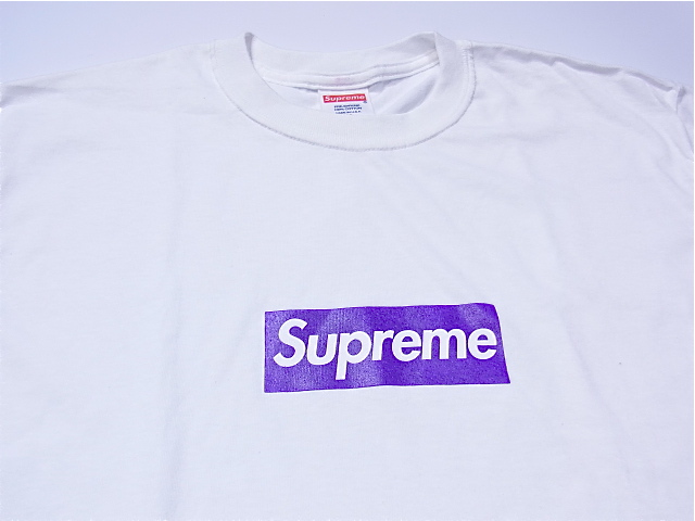 激罕見的!!! SUPREME(shupurimu)BOX Logo Tee purple six mafia箱標識T恤紫