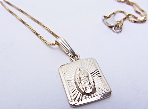 Supreme(shupurimu)Mini Virgin Of Guadalupe Pendant 14K Neckless小吊墜項鏈BOX