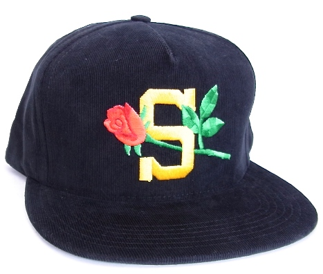 2015 SS SUPREME (shupurimu) Rose cord 5-Panel Cap Black Supreme rose  Corderoy five-Panel Cap 2656ec736ec