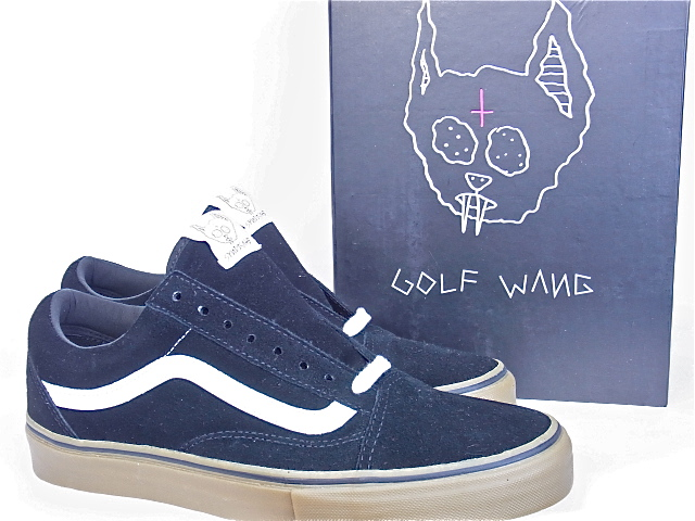 "VANS(卡車)OLD SKOOL PRO""S""SYNDICATE BLACK""ODD FUTURE""GOLF WANG卡車老學校辛迪加高爾夫球Wang奥多未來"