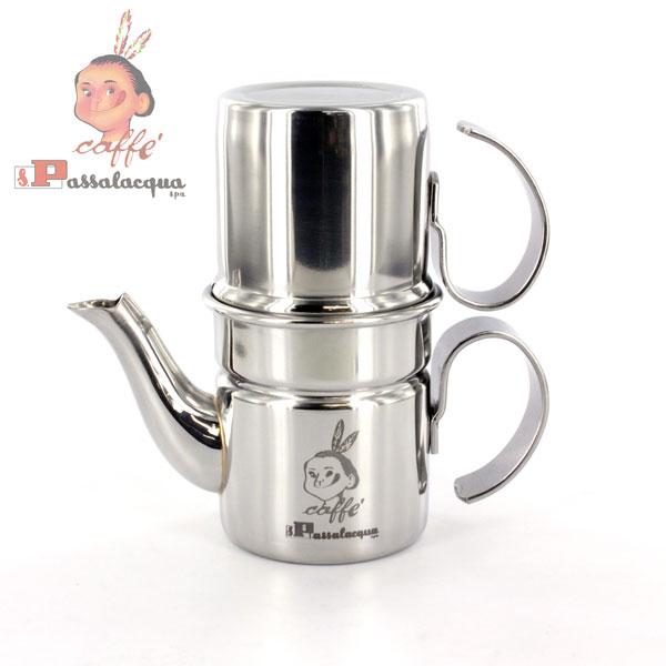 パッサラクア カフェ・ナポレターナ(Sサイズ) ナポリ式(直火式)コーヒーメーカー