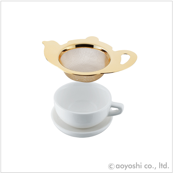 CP ティーポット型茶こし 本日限定 モデル着用&注目アイテム 019425 ゴールド