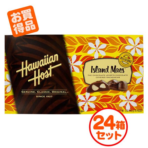 【24箱セット】 ハワイアンホースト マカデミアナッツチョコレート ティアラ アイランドマックス 5oz×24個