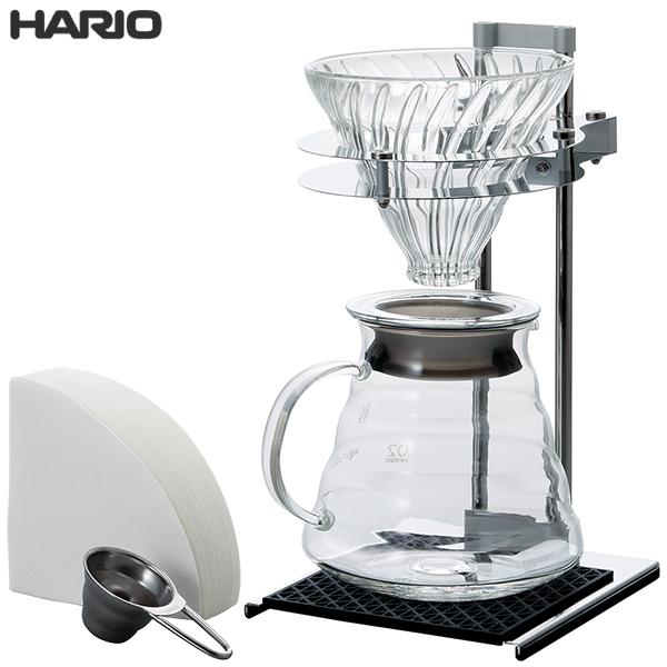 【送料無料】 HARIO ハリオ V60 プアオーバー スタンドセット VPOS-1506-SV
