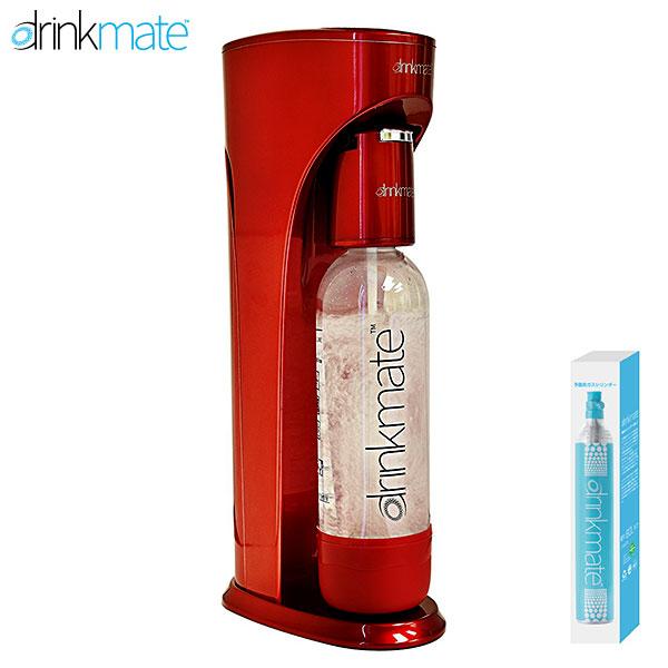 DrinkMate 家庭用炭酸飲料 ソーダメーカー ドリンクメイト レッド スターターセット DRM1002 ワインやジュースもOK! 送料無料