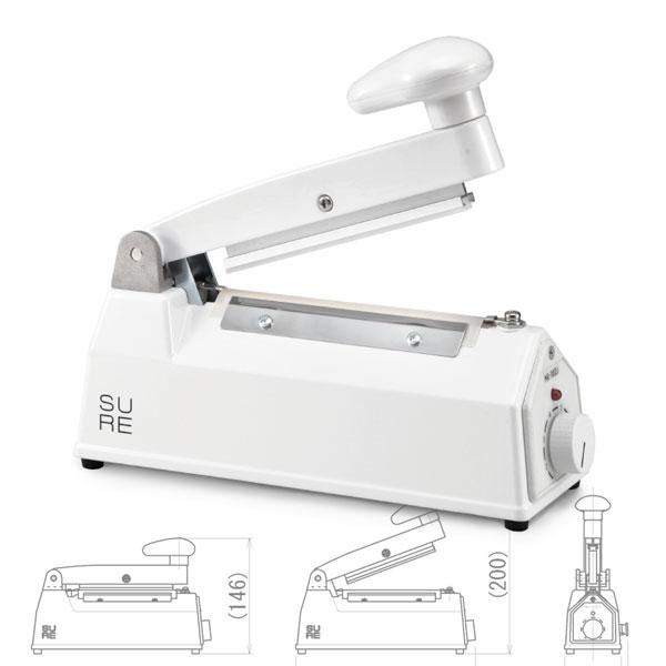 ワンランク上のシーラー・卓上タイプ ホワイト(幅2.5mm × 長さ100mm)SURE NL-102J(W)