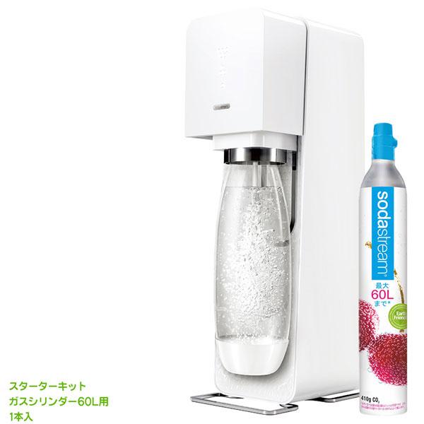 【送料無料】SodaStream ソーダストリーム Source v3(ソース v3) スターターキット ホワイト