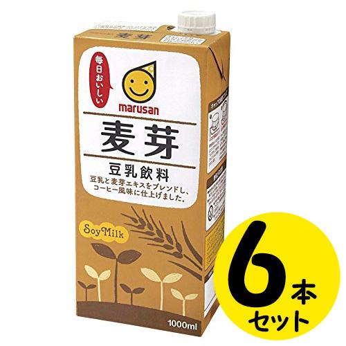 マルサンアイ 高価値 豆乳飲料麦芽 1L×6本 取寄品 日付指定不可 人気上昇中