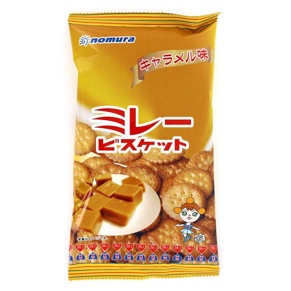 野村煎豆 まじめなおかし ミレービスケットキャラメル味 (110g)