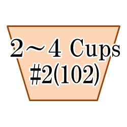 コットンパワーホワイト台形 2-4杯用 60枚入 #102