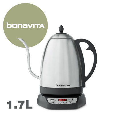[取寄品/日付指定不可] bonaVITA ボナビータ 1.7L グースネック 電気湯沸ケトル #29615