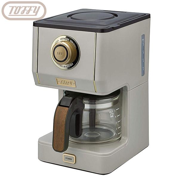 ラドンナ 本物◆ TOFFY アロマドリップ コーヒーメーカー K-CM5-GE 送料無料 650ml 日本正規品 グレージュ