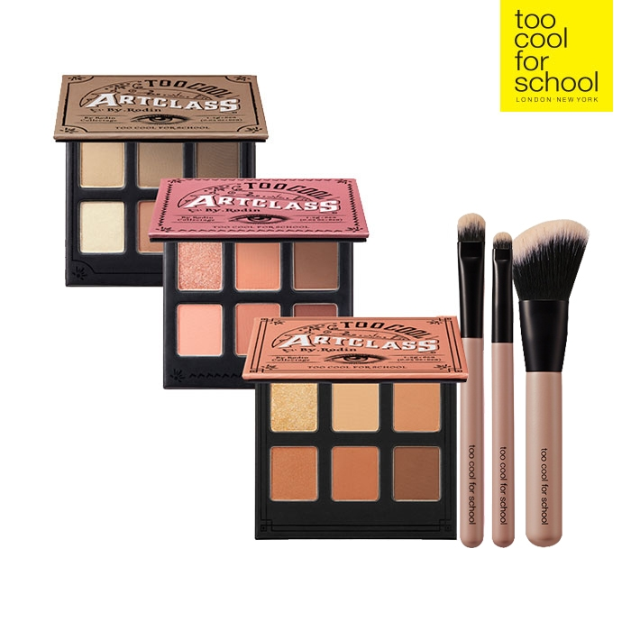 too cool 格安激安 for school 公式 BY RODIN 韓国コスメ 送料無料 KIT COLLECTAGE+BRUSH アイシャドウ 国内送料無料 トゥークールフォースクール EYES