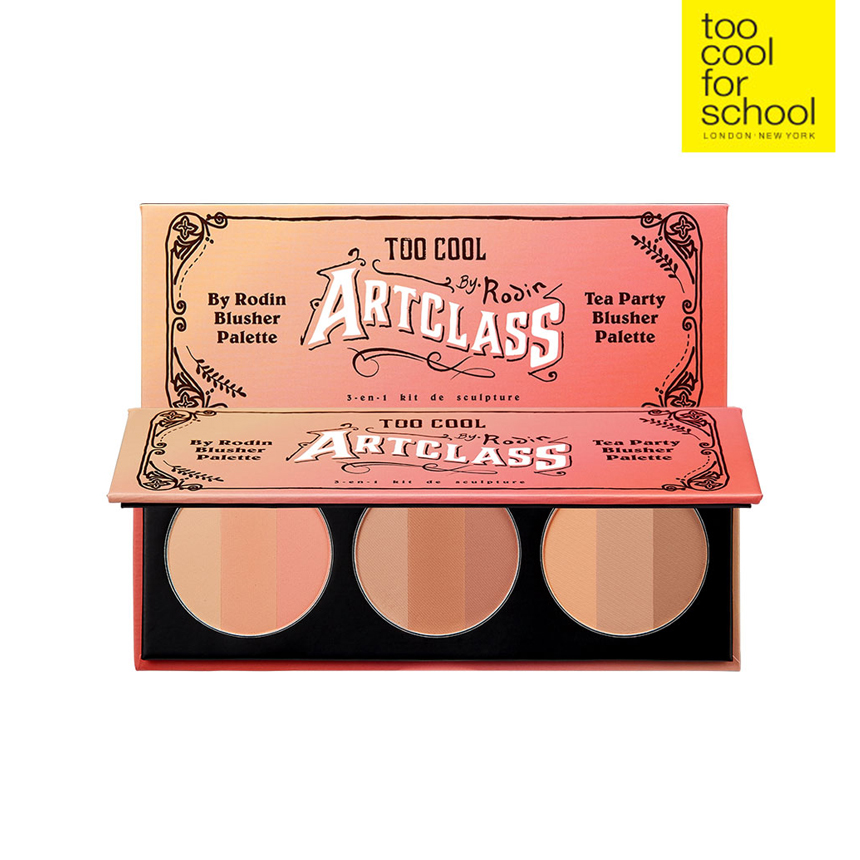 too cool for school 公式 BY RODIN TEA PARTY BLUSHER 送料無料 価格 売却 PALETTE トゥークールフォースクール BRUSH チーク 韓国コスメ HIGHLIGHTER SHADING + KIT