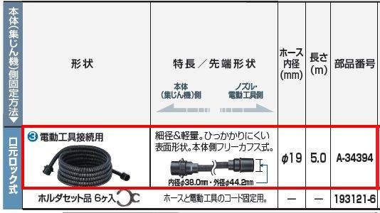 新作通販 マキタ 集じん機ホース 電動工具接続用 makita A-34394 全国どこでも送料無料