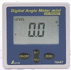 シンワ デジタルアングルメーター ミニマグネット付 76447