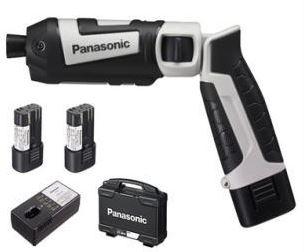 パナソニック 充電式スティックインパクトドライバー7.2V LAタイプ電池セット EZ7521LA2S-H グレー