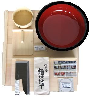 豊稔企販 麺打ちセット 雅 (そば・うどんDVD付) A-1550