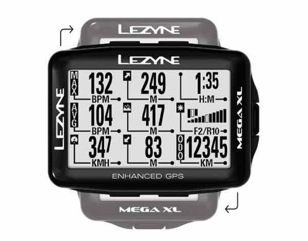LEZYNE レザイン MEGA XL GPS【サイクルコンピュータ】【USB充電】【自転車】【日本国内正規販売モデル】【スマートフォン連動】【ナビゲーション】