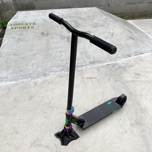 【トリック入門におすすめ】CRISP クリスプ フリースタイルスクーター プロモデル SWITCH スイッチ ブラック【キックボード】【フリースタイル】