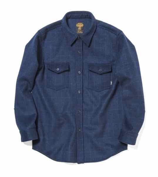 Green clothing グリーンクロージング WOOL FLANNEL SHIRTS ウールフランネルシャツ Blue Check Lサイズ【スノーボード】【スキー】【スノースクート】【ミッドレイヤー】