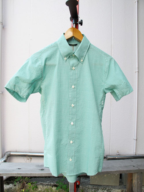CCP シーシーピー 半袖シャツ SS-CA02 / マイクロギンガムチェックシャツ GREEN【自転車】【サイクリングウェア】