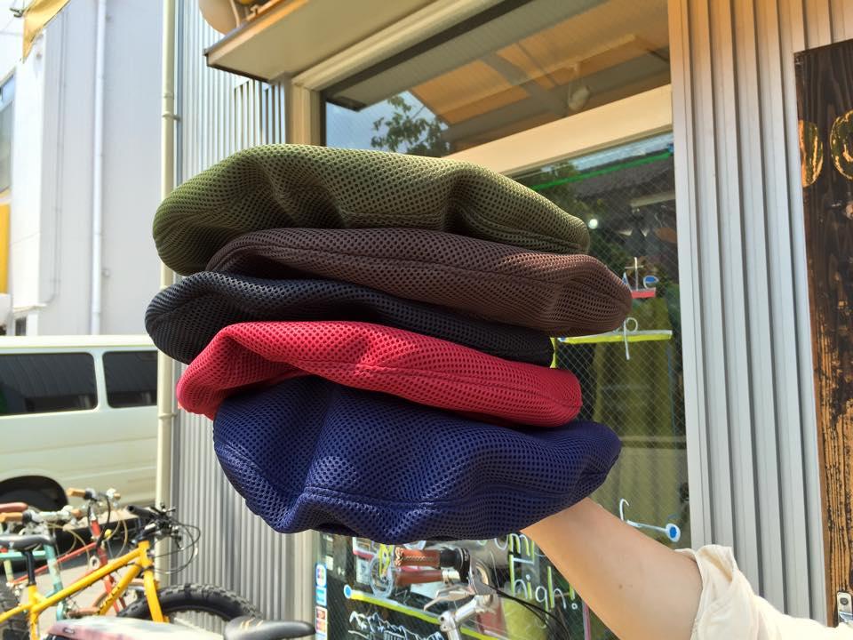 【メッシュ】【帽子】ハンドメイド ベレー帽 テツオミシン メッシュベレー TETSUO MICHINE 【蒸れない】【風で飛ばない】【フリーサイズ】【国産】【サイクリング】【アウトドア】