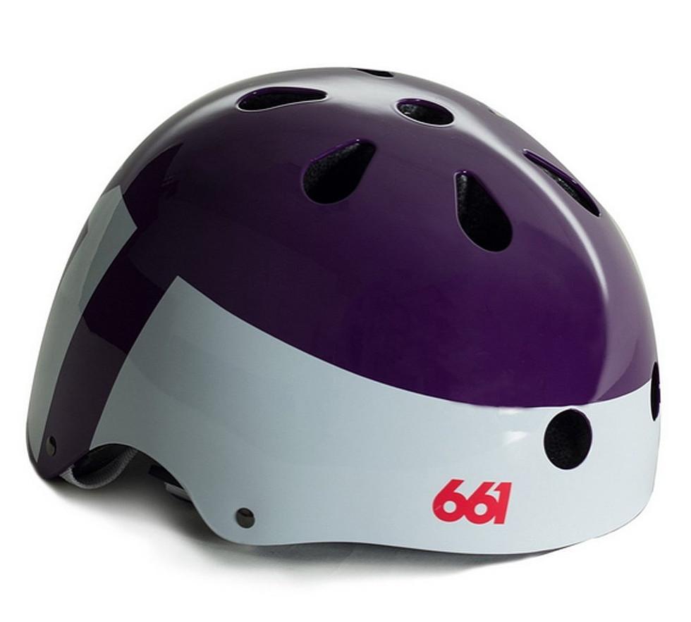 661 SIXSIXONE シックスシックスワン YOUTH DIRT LID パープル L/XLサイズ【ヘルメット】【BMX】【スノースクート】【キッズ】