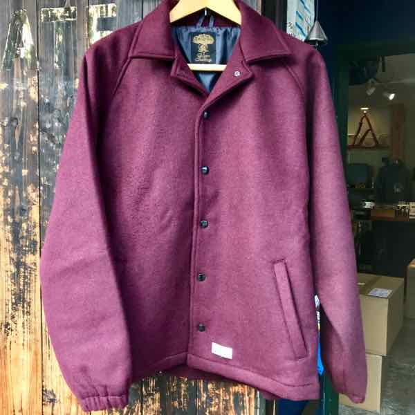 green clothing グリーンクロージング THE 289 JACKET Burgundy【ミッドレイヤー】