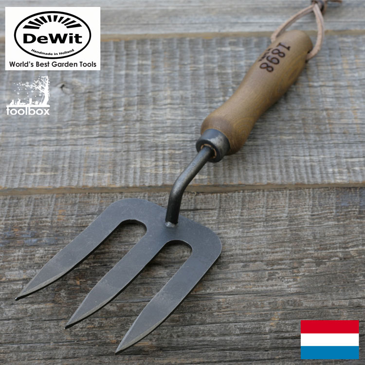Product made in DeWit (デウィット) hand fork (L) No  4780 hand tool Netherlands